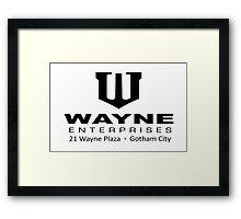 Wayne Enterprises Framed Print