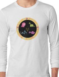 Dinamic Girls Collection - Girl Dinosaur Design Long Sleeve T-Shirt