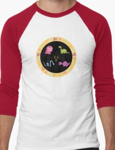 Dinamic Girls Collection - Girl Dinosaur Design Men's Baseball ¾ T-Shirt