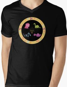 Dinamic Girls Collection - Girl Dinosaur Design Mens V-Neck T-Shirt