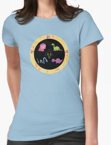 Dinamic Girls Collection - Girl Dinosaur Design Womens Fitted T-Shirt