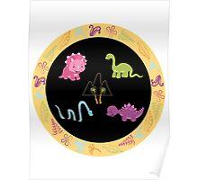 Dinamic Girls Collection - Girl Dinosaur Design Poster