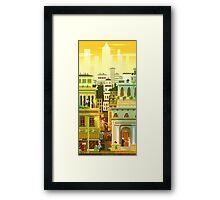 Canvas City Framed Print