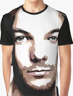 medium length hair vector portrait Graphic T-Shirt