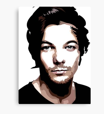 medium length hair vector portrait Canvas Print