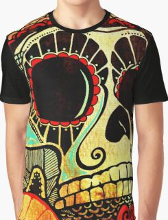 Grunge Skull Graphic T-Shirt