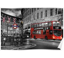 London: Red Double-Decker Poster