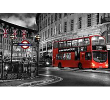London: Red Double-Decker Photographic Print