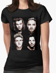 group vector portrait Womens Fitted T-Shirt