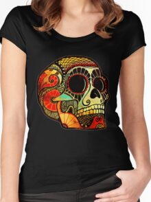 Grunge Skull Women's Fitted Scoop T-Shirt
