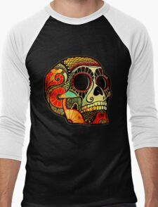 Grunge Skull Men's Baseball ¾ T-Shirt