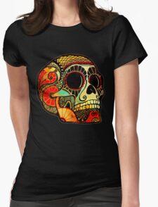 Grunge Skull Womens Fitted T-Shirt