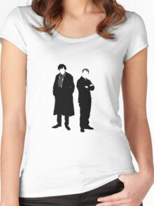 Holmes and Watson Women's Fitted Scoop T-Shirt