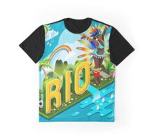 Brasil Rio Summer Infographic Isometric 3D Graphic T-Shirt