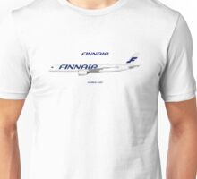 Illustration of Finnair Airbus A350 Unisex T-Shirt