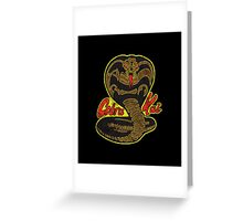 Cobra kai - Variant 4 Plain Logo distressed Greeting Card