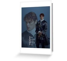 Jamie Fraser portrait blend Greeting Card