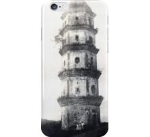 Historic Asian tower building iPhone Case/Skin