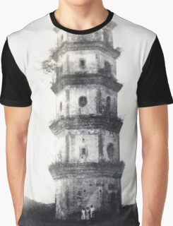 Historic Asian tower building Graphic T-Shirt