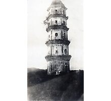 Historic Asian tower building Photographic Print
