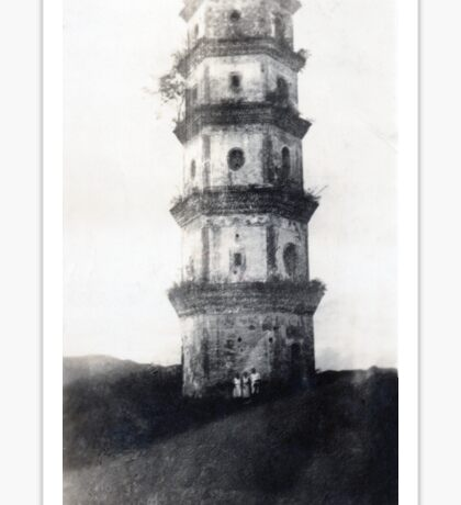 Historic Asian tower building Sticker