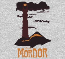 Mordor vintage travel poster One Piece - Long Sleeve