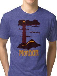Mordor vintage travel poster Tri-blend T-Shirt