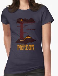 Mordor vintage travel poster Womens Fitted T-Shirt