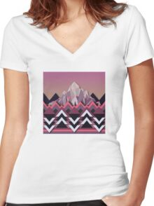 My Nature Collection No. 40 Women's Fitted V-Neck T-Shirt