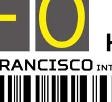 Destination San Francisco Airport Sticker