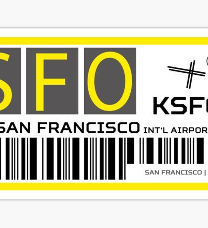 Destination San Francisco Airport Sticker