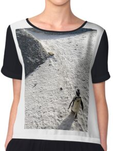 The lonely walk! Chiffon Top