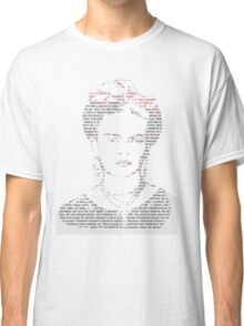 Frida Kahlo Typogrpahy Tee Classic T-Shirt