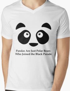 Emo Panda Mens V-Neck T-Shirt