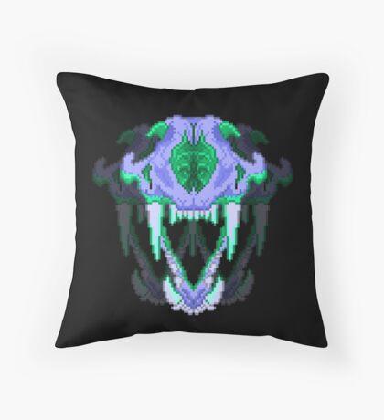 Digital Skulls Throw Pillow
