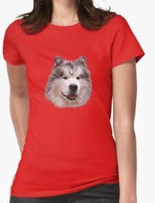 Cute Alaskan Malamute Womens Fitted T-Shirt