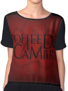 COHEED & CAMBRIA RED LOGO BEST Chiffon Top