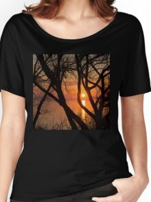 Sunrise Through the Willows - Lake Ontario, Toronto, Canada  Women's Relaxed Fit T-Shirt