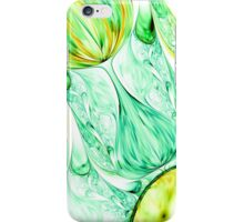green abstract wave psychedelic background. Fractal artwork for creative design. iPhone Case/Skin