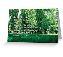 May the Lord  bless you. Greeting Card