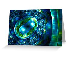 Abstract luxury ornate sparkle blue and green bright pattern. Brilliant ornament background.  Greeting Card