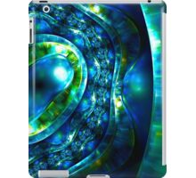 Abstract luxury ornate sparkle blue and green bright pattern. Brilliant ornament background.  iPad Case/Skin