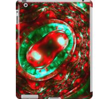 Abstract luxury ornate sparkle red and green bright pattern. Brilliant ornament background.  iPad Case/Skin
