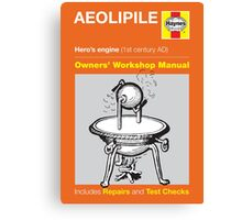 Haynes Manual - Aeolipile - Poster & stickers Canvas Print