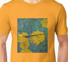 Dragonfly And Marigolds - Oil Painting Unisex T-Shirt