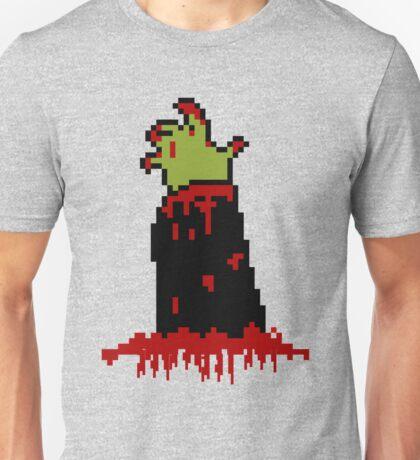 Bloody Zombie Hand Pixelated Unisex T-Shirt