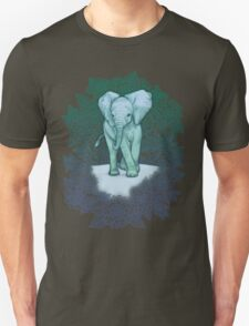 Emerald Elephant in the Lilac Evening Unisex T-Shirt