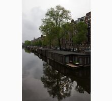 Springtime Amsterdam - Boathouses and Miniature Gardens Unisex T-Shirt