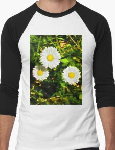 3 Daisies Men's Baseball ¾ T-Shirt