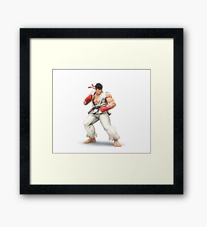 Ryu - Street Fighter Framed Print